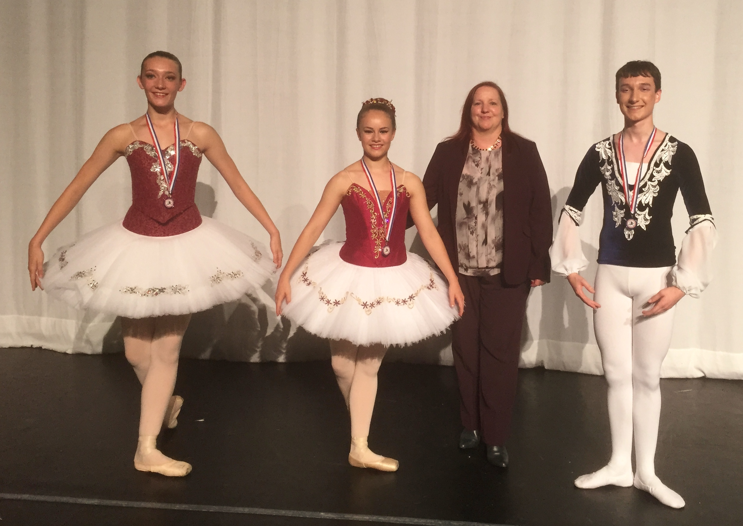 Emily Gardiner (Centre) Winner, Thomas Matthews (Right) Runner Up