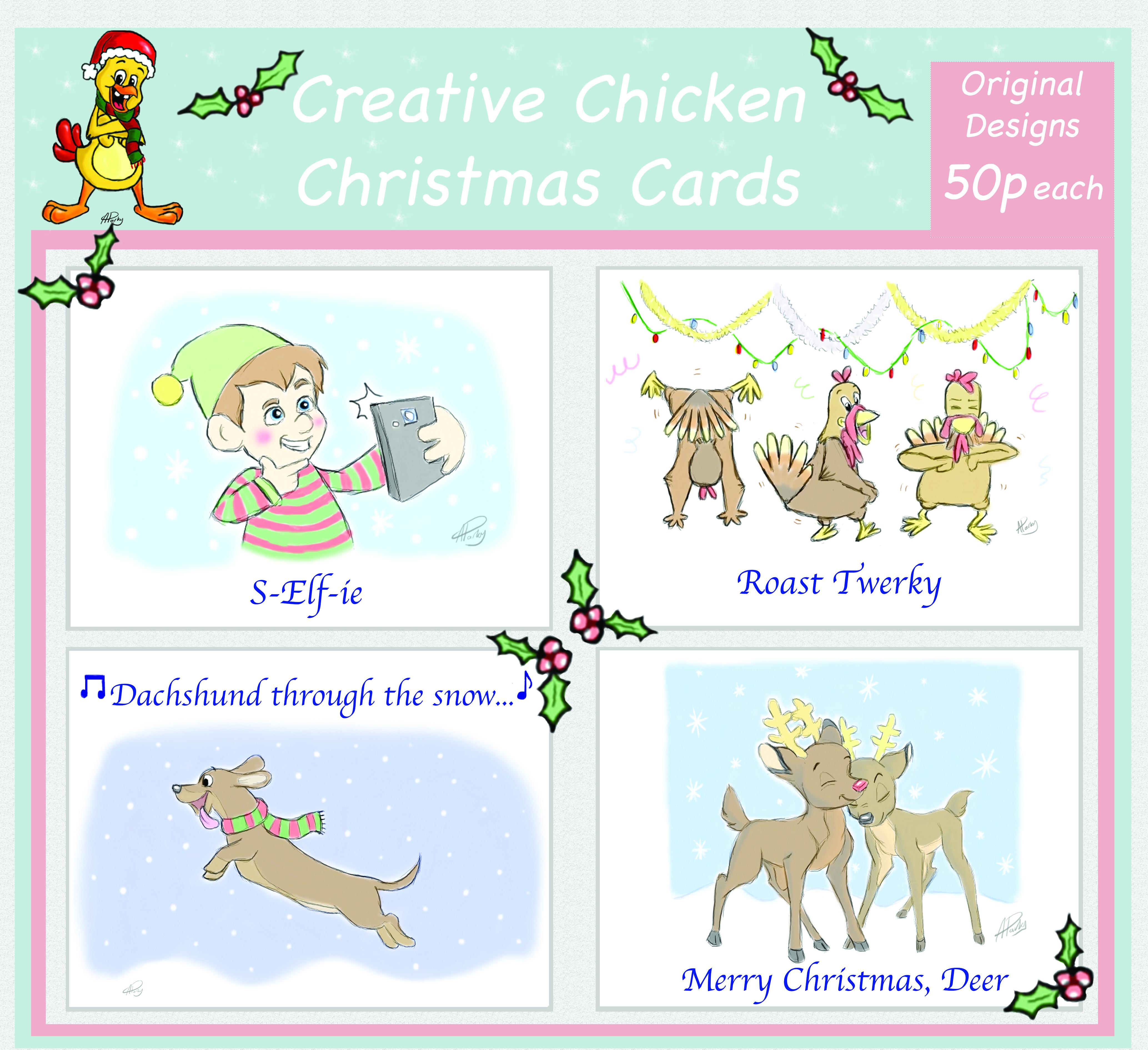 Teaser Xmas Cards CC Cardwell