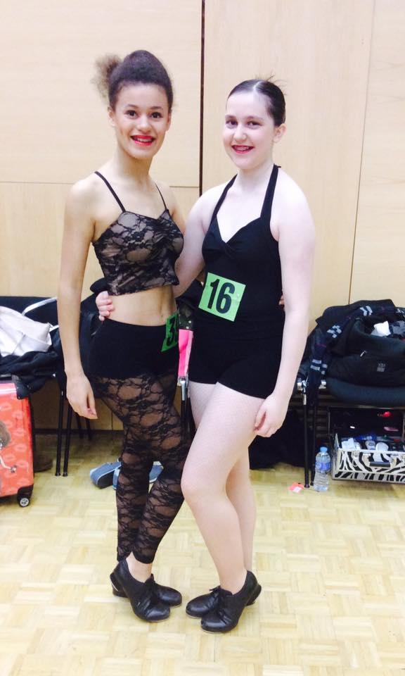 Amanda and Charlotte Tap Performers