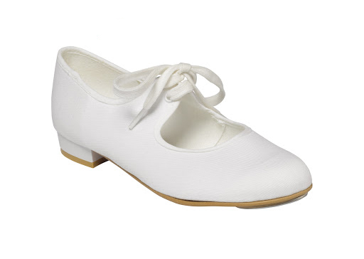 Canvas Low Heel Tap Shoes