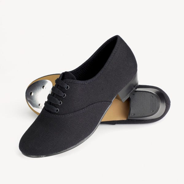 Canvas Low Heel Oxford Tap Shoes