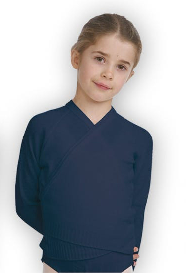 Navy blue 3/4 sleeve wrap over cardigan